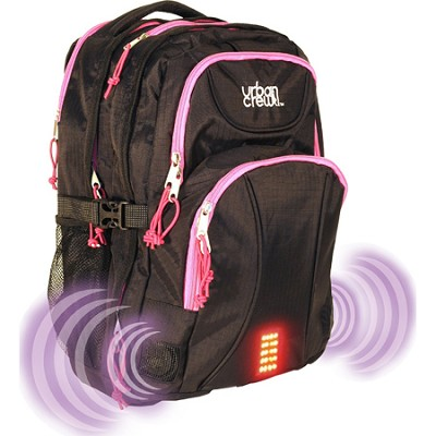 Urban Crew Laptop Backpack - Pink/Black