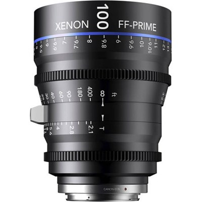 100MM Xenon Full Frame 4K Prime XN 2.1 / 100 Feet Lens for Sony E Mounts