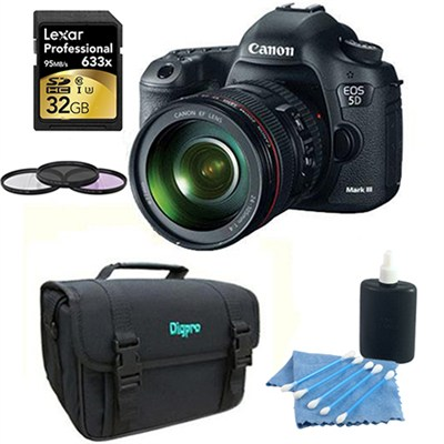 EOS 5D Mark III 22.3 MP Full Frame CMOS Digital SLR with 24-105 Lens Bundle Deal
