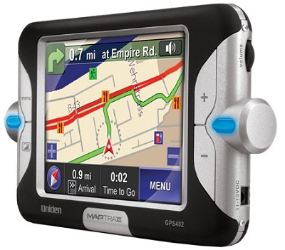 GPS-402 MapTrax Automotive GPS Navigator with 4` Display - OPEN BOX