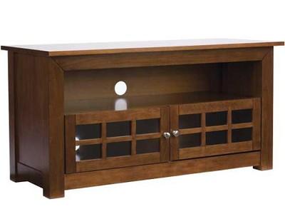 BFV146 - Hardwood 3-Shelf A/V Cabinet for TVs up to 46` (Chestnut Finish)