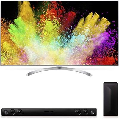 60SJ8000 SUPER UHD 60` 4K HDR Smart LED TV and 2.1 Ch 300W LAS47 Soundbar Bundle