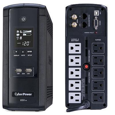850VA AVR LCD 120V 10-Outlet Mini Tower - BRG850AVRLCD