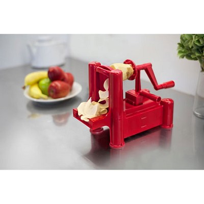 Slice-A-Roo Ultimate Tri-Blade Vegetable and Fruit Peeler Spiralizer - Red