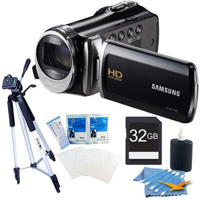 HMX-F90 52X Optimal Zoom HD Camcorder Black Kit