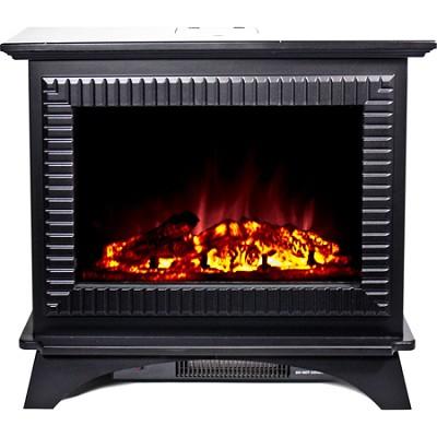 BMSF-10311 Boston Cast Iron Floor Standing Electric Fireplace - Black