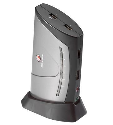 Desktop USB 2.0 7-Port Hub w/Audio Pass-Through