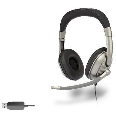 USB Stereo Hdphone Adult w Mic