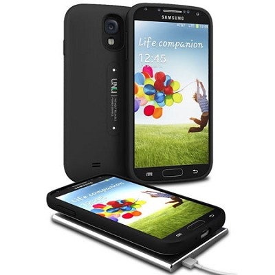 Aero Samsung Galaxy S4 Battery with Wireless Charging Pad - Black