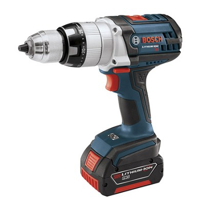 HDH181-01 18V Brute Tough Lithium Ion Hammer Drill w/ 2 Fat Pack Batteries