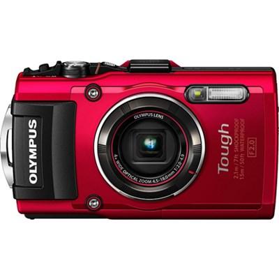 TG-4 16MP 1080p HD Waterproof Digital Camera w/ 3-In. LCD - Red - OPEN BOX