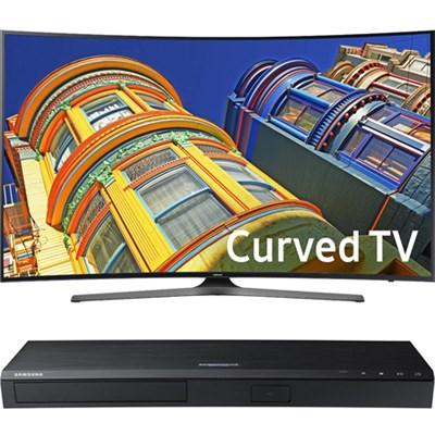 Curved 65` 4K UHD Smart LED TV- 65KU6500+ Samsung UBDK8500 4K UHD Blu-Ray Player