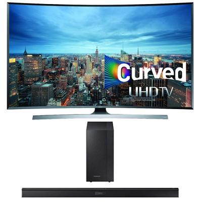 UN48JU7500 - 48-Inch 2160p 3D Curved 4K UHD Smart TV HW-J450 Soundbar Bundle