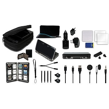 The Ultimate 22 in1 Pack for Nintendo 3DS in Black