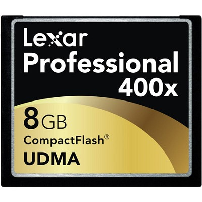 Professional 400x Compact Flash 8 GB Memory Card