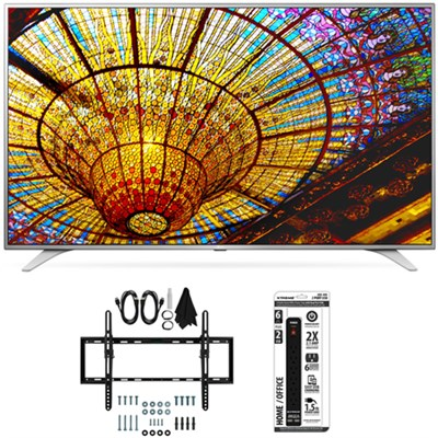 49UH6500 49-Inch 4K UHD Smart TV w/ webOS 3.0 Flat + Tilt Wall Mount Bundle