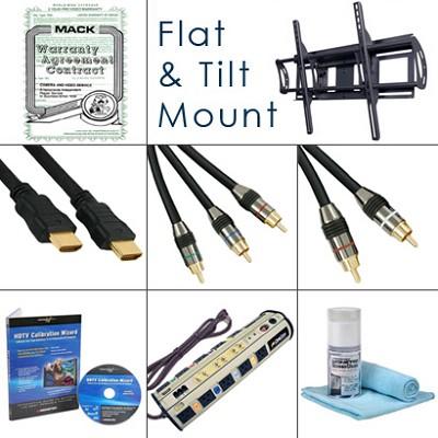 HDTV Essentials Bundle (Cables, Power, Warranty Extention, Tilt Mount, Plus...)