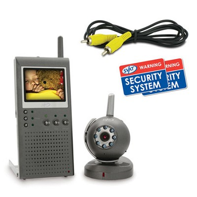 Wireless Portable Color Video Baby Monitor - 2.5` LCD Screen and Night Vision