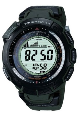 PAW1300-3V - Green Pathfinder Multi-Band Atomic Solar Triple Sensor Watch