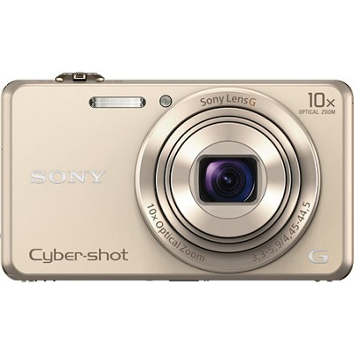 DSC-WX220 Gold Compact Point and Shoot Digital Still Camera - OPEN BOX