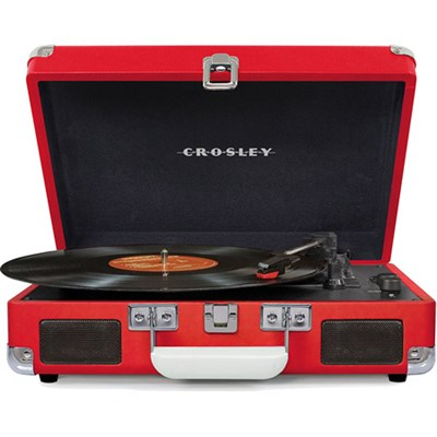 Cruiser Portable 3-Speed Turntable with Bluetooth - CR8005D-RE (Red)