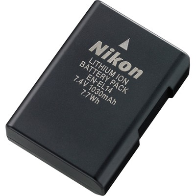 EN-EL14 Rechargable Li-ion Battery for D3100 and P7000 Camera