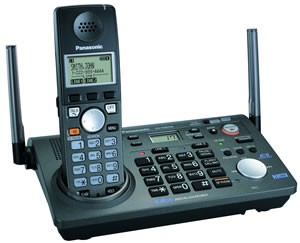 KX-TG6700B Two Line 5.8 GHz Expandable Cordless Phone System With Answering Mac.