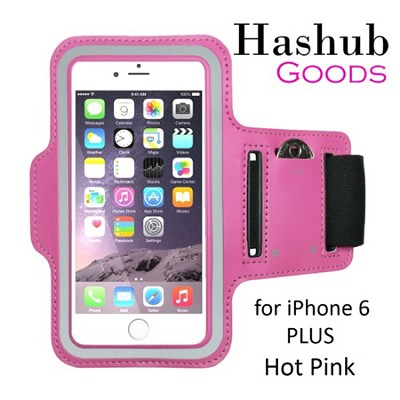 Sports Running Armband for iPhone 6 Plus/Galaxy S6/S6 Edge/Note 4 in Hot Pink