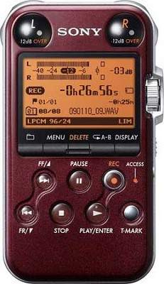 PCMM10 Portable Audio Recorder (Glossy Red)