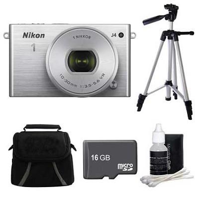 1 J4 Mirrorless Digital Camera with 10-30mm Lens Silver Kit
