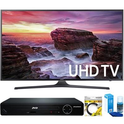 Flat 54.6` LED 4K UHD 6 Series Smart TV (2017) +HDMI DVD Player Bundle