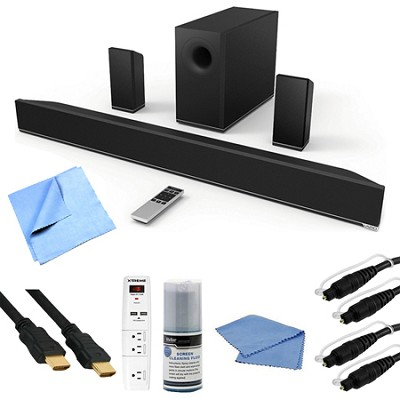 38-Inch 5.1 Bluetooth Sound Bar with Wireless Subwoofer and Two Speakers Bundle