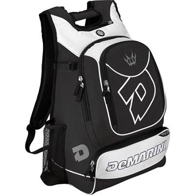 Vexxum Backpack Baseball Gear Bag - Black/White