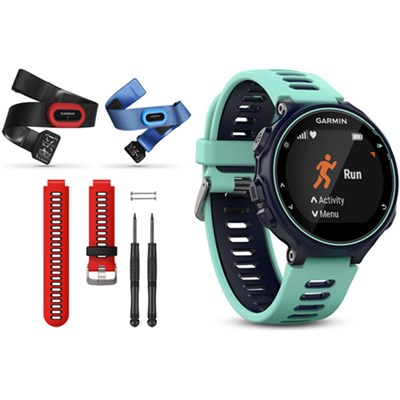 Forerunner 735XT GPS Running Watch Tri-Bundle with Red Band - Midnight Blue