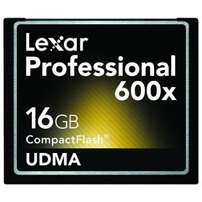 Professional 600x Compact Flash 16 GB Memory Card