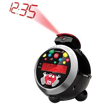 M&M's Character Have a Sweet Day LED Projection AM/FM Alarm Clock Radio