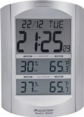 47007 Large Format LCD Weather Station (Silver)