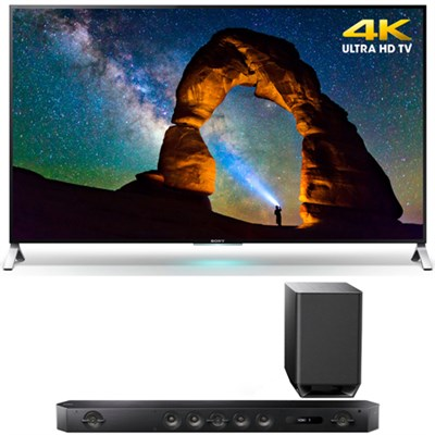XBR-55X900C 55-inch 4K UHD 3D Smart LED TV w/ Sony HT-ST9 7.1 Channel Sound Bar