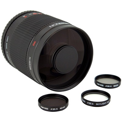 500mm f/8.0 Mirror Lens for Canon DSLR Cameras (Black)