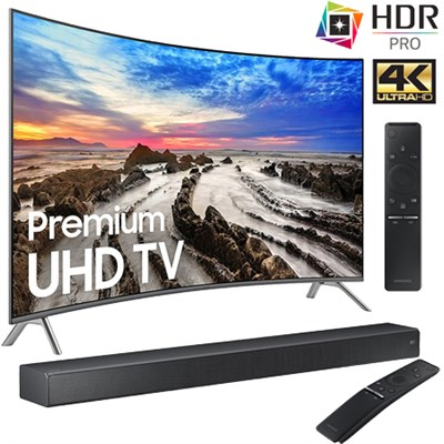 UN55MU8500FXZA 55` Curved 4K Ultra HD Smart LED TV (2017) + HW-MS750 Soundbar
