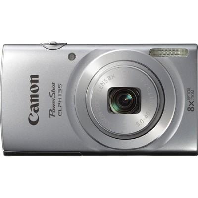 PowerShot ELPH 135 16MP 8x Optical Zoom Digital Camera - Silver