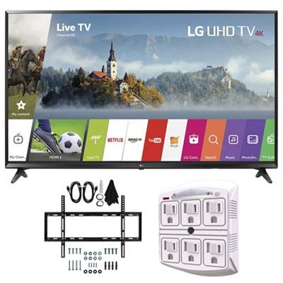 55UJ6300 55-inch 4K Ultra HD Smart LED TV (2017 Model) w/ Wall Mount Bundle