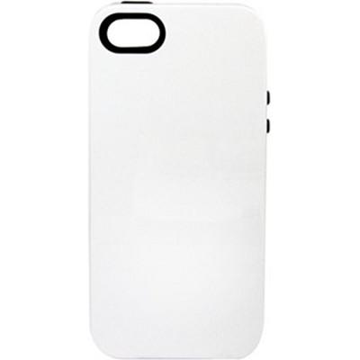Inlay Hybrid Case for iPhone 5 - Halfmoon (White/Black)