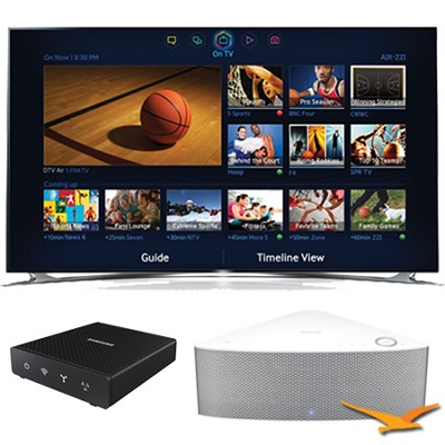 UN55F8000 - 55` 1080p 240hz 3D Smart LED HDTV with SHAPE Audio Bundle - White