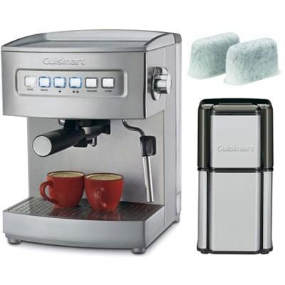 Programmable 15-Bar Espresso Maker Stainless Steel Certified Refurbished Bundle