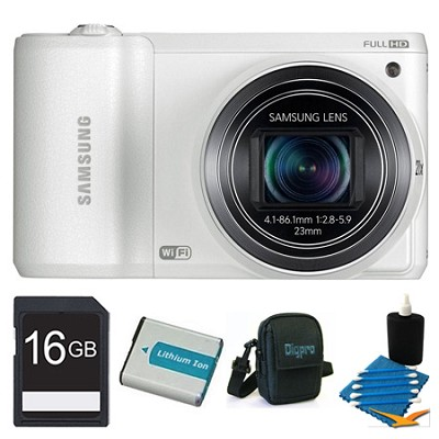 WB800F 16.3 MP Smart Camera with Built-in Wi-Fi 16GB White Kit