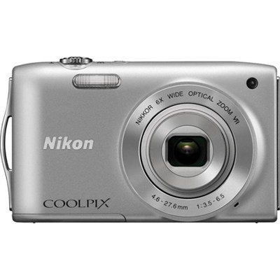 COOLPIX S3300 Digital Camera with 720p HD Video - Silver REFURBISHED