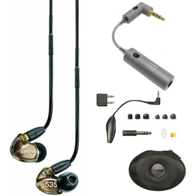Sound Isolating Triple Driver Earphone w/ Detachable Cable Bronze Mic w/ iEMATCH