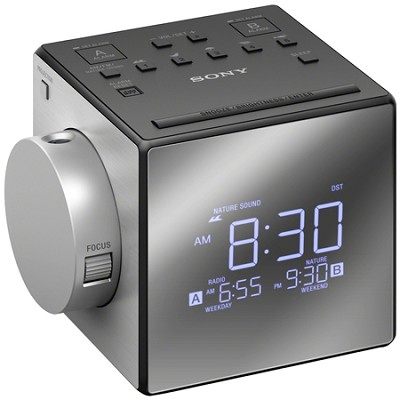 Alarm Clock Radio w/Time Projection (ICF-C1PJ) - OPEN BOX