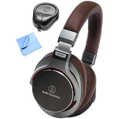 SR7 SonicPro Over-Ear Headphones w/ Slappa Case & Cleaning Cloth, Gun Metal
